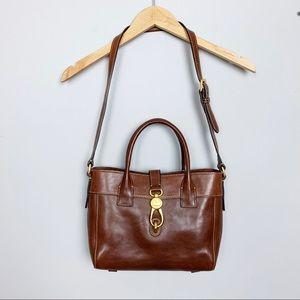 Dooney & Bourke brown leather tote shoulder bag